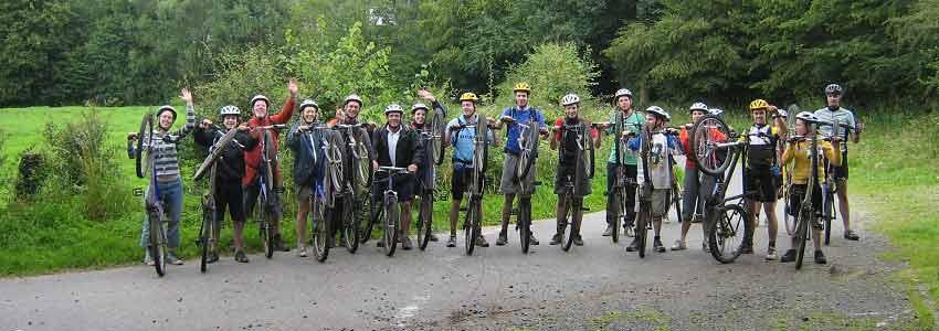 Mountainbiken in de Belgische ardennen is gaaf voor elke groep