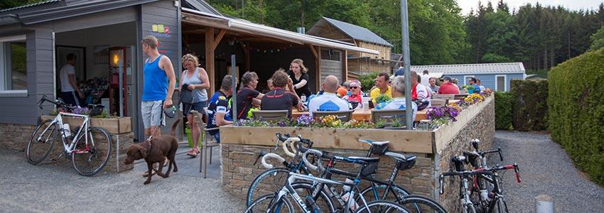 Horeca bar bistro restaurant op camping polleur
