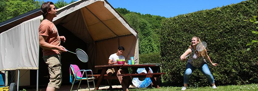 Cabane is een overnachting mogelijkheid voor een arrangement op camping polleur met gave outdoor activiteiten in de Belgische Ardennen